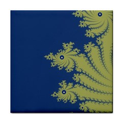Blue and Green Design Face Towel