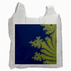 Blue and Green Design Recycle Bag (Two Side)