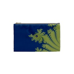 Blue and Green Design Cosmetic Bag (Small)