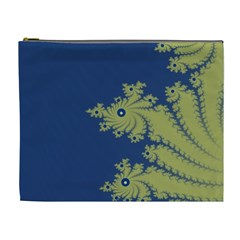 Blue And Green Design Cosmetic Bag (xl)
