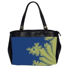 Blue And Green Design Office Handbags (2 Sides)