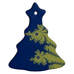 Blue and Green Design Christmas Tree Ornament (2 Sides)