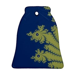 Blue and Green Design Bell Ornament (2 Sides)
