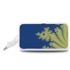 Blue and Green Design Portable Speaker (White)