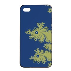 Blue And Green Design Apple Iphone 4/4s Seamless Case (black)