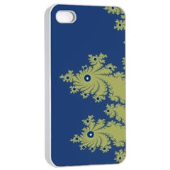 Blue And Green Design Apple Iphone 4/4s Seamless Case (white)