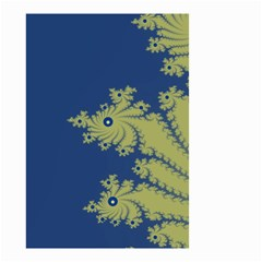 Blue And Green Design Small Garden Flag (two Sides)