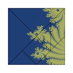 Blue and Green Design Acrylic Tangram Puzzle (6  x 6 )