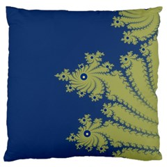 Blue and Green Design Large Cushion Cases (One Side)