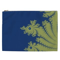 Blue And Green Design Cosmetic Bag (xxl)