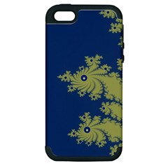 Blue And Green Design Apple Iphone 5 Hardshell Case (pc+silicone)