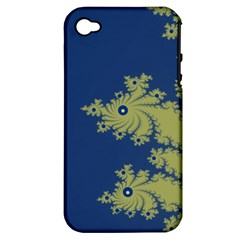 Blue And Green Design Apple Iphone 4/4s Hardshell Case (pc+silicone)