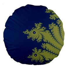 Blue And Green Design Large 18  Premium Round Cushions