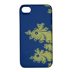 Blue and Green Design Apple iPhone 4/4S Hardshell Case with Stand