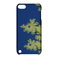 Blue and Green Design Apple iPod Touch 5 Hardshell Case with Stand