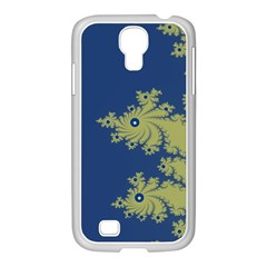 Blue and Green Design Samsung GALAXY S4 I9500/ I9505 Case (White)