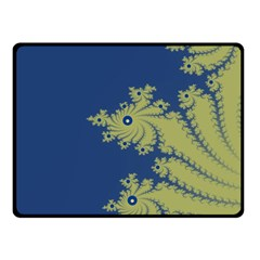 Blue and Green Design Double Sided Fleece Blanket (Small)