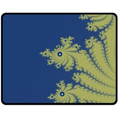 Blue and Green Design Double Sided Fleece Blanket (Medium)