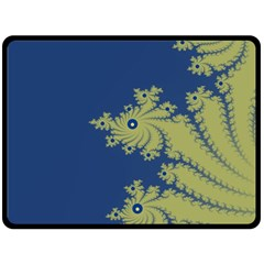 Blue and Green Design Double Sided Fleece Blanket (Large)