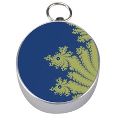 Blue And Green Design Silver Compasses