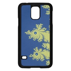 Blue and Green Design Samsung Galaxy S5 Case (Black)