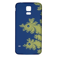 Blue and Green Design Samsung Galaxy S5 Back Case (White)