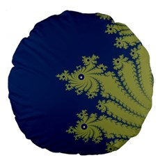 Blue And Green Design Large 18  Premium Flano Round Cushions