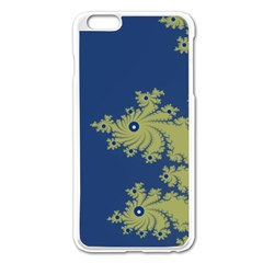 Blue And Green Design Apple Iphone 6 Plus Enamel White Case