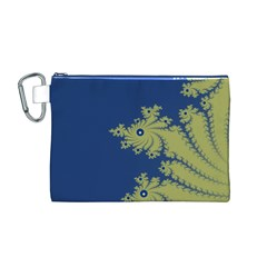 Blue And Green Design Canvas Cosmetic Bag (m)
