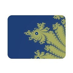 Blue and Green Design Double Sided Flano Blanket (Mini)