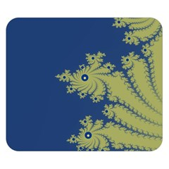 Blue And Green Design Double Sided Flano Blanket (small)