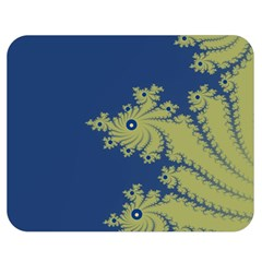 Blue and Green Design Double Sided Flano Blanket (Medium)