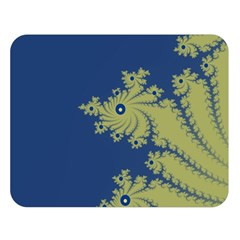 Blue and Green Design Double Sided Flano Blanket (Large)