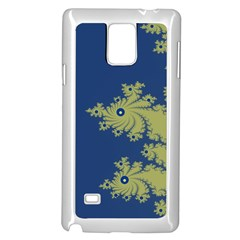 Blue And Green Design Samsung Galaxy Note 4 Case (white)
