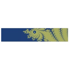 Blue And Green Design Flano Scarf (small)