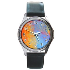 Hot And Cold Round Metal Watches