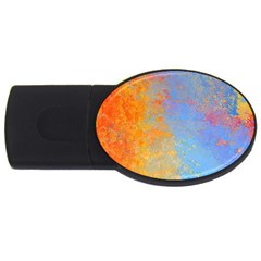 Hot and Cold USB Flash Drive Oval (1 GB)