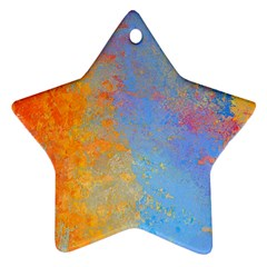 Hot And Cold Star Ornament (two Sides)