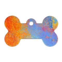 Hot And Cold Dog Tag Bone (one Side)