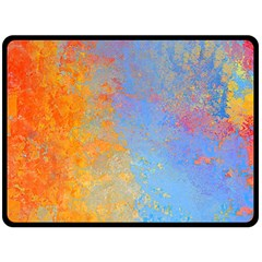 Hot And Cold Double Sided Fleece Blanket (large)