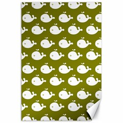 Cute Whale Illustration Pattern Canvas 20  X 30