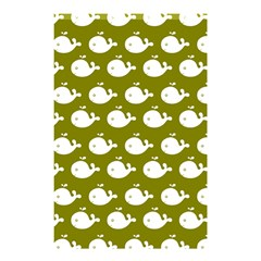 Cute Whale Illustration Pattern Shower Curtain 48  X 72  (small)