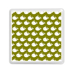Cute Whale Illustration Pattern Memory Card Reader (square)
