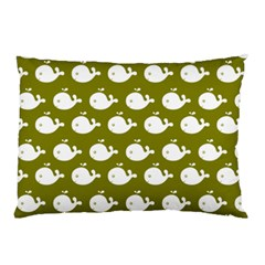Cute Whale Illustration Pattern Pillow Cases (two Sides)
