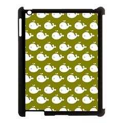 Cute Whale Illustration Pattern Apple Ipad 3/4 Case (black)
