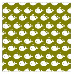Cute Whale Illustration Pattern Large Satin Scarf (Square)