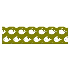 Cute Whale Illustration Pattern Satin Scarf (Oblong)