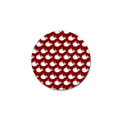 Cute Whale Illustration Pattern Golf Ball Marker (10 Pack)