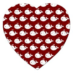 Cute Whale Illustration Pattern Jigsaw Puzzle (heart)