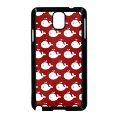 Cute Whale Illustration Pattern Samsung Galaxy Note 3 Neo Hardshell Case (black)